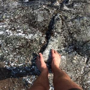 Litt skarpe store steiner er det på turen.
