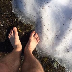 Du kan møte på områder med snø. Forfriskende i varmen.